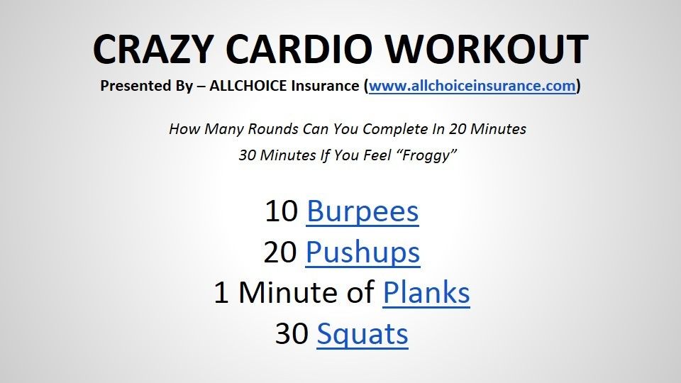 ALLCHOICE-Insurance-Crazy-Cardio-Workout
