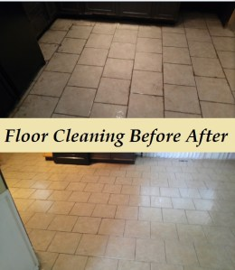 Floor cleaning calls for deep scrub and treating the grout to clean it correctly