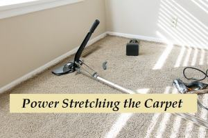Stretching carpet wall to wall removes excess carpet leaving no wrinkles