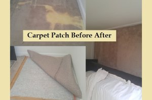Removing bad carpet replacing with newer piece