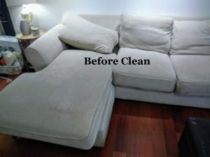 sectional before cleaned