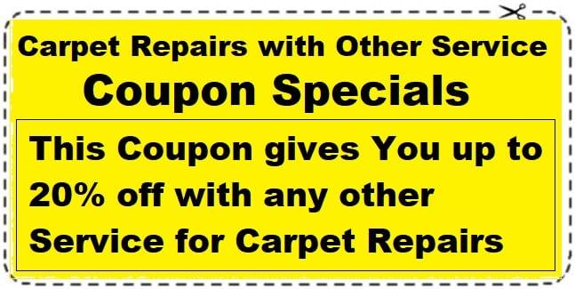 carpet repair coupon save 20%