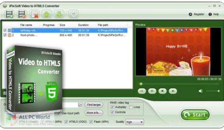 iPixSoft-Video-to-HTML5-Converter-Free-Download