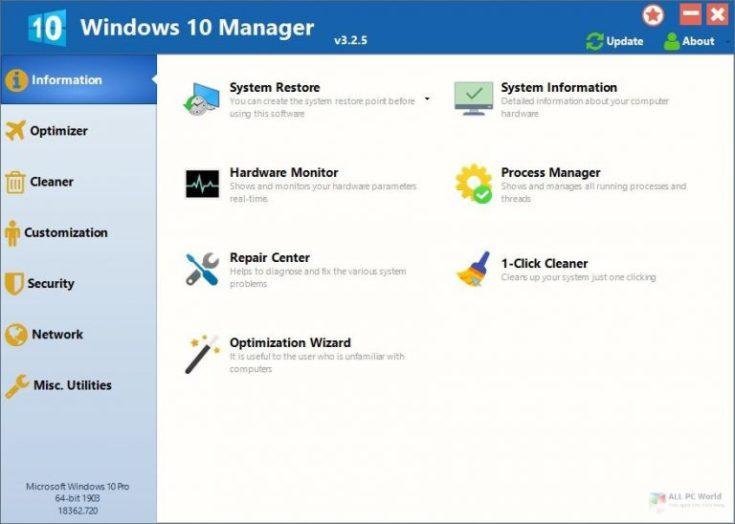 Windows 10 Manager 2020 v3 Download