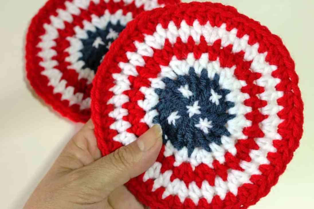 Patriotic Coasters by Yolanda Soto-Lopez