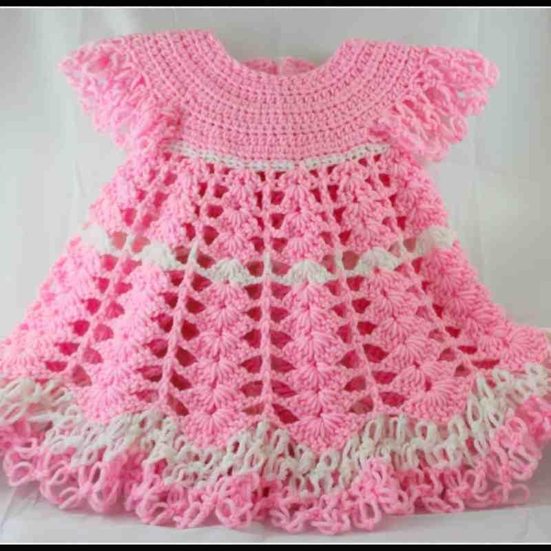 Crochet Baby Dress by Yolanda Soto-Lopez