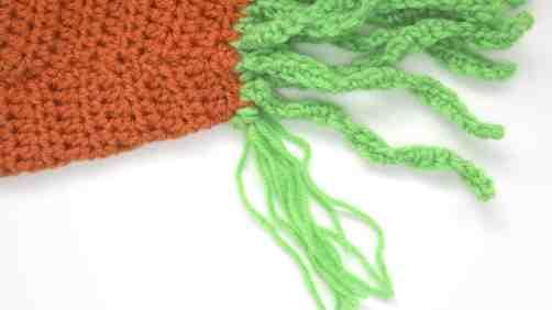 close up or carrot fringe