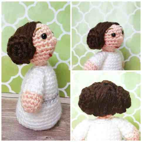 Amigurumi Princess Doll in Cape Crochet Free Pattern | 484x484