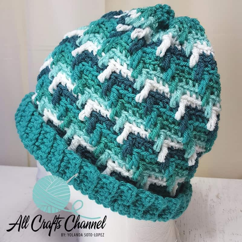 22b454ac304 Crochet Apache Tears Hat the easy way - All Crafts Channel