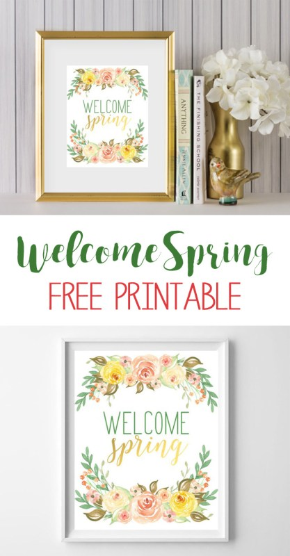 welcome spring printable