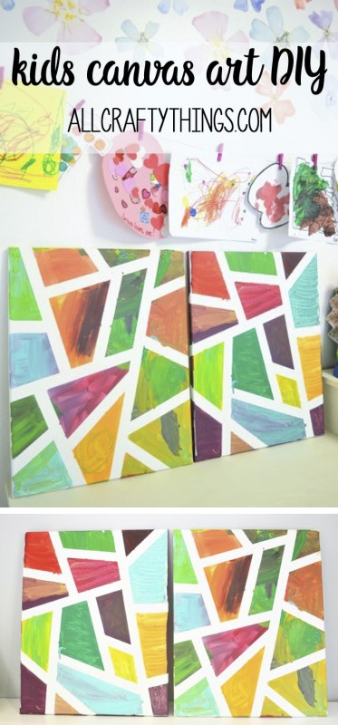 Kids Canvas Art DIY