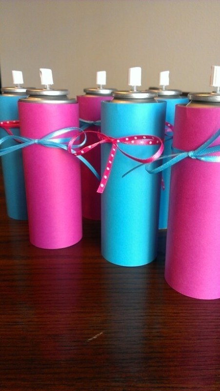 silly string gender reveal