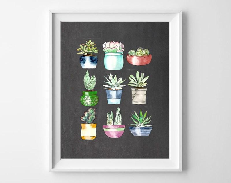 succulents art printable 2