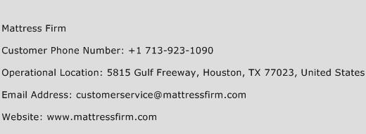 Click Here To View Mattress Firm Customer Service Phone Numbers