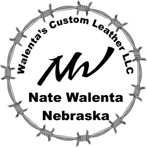 Walenta's Custom Leather Logo