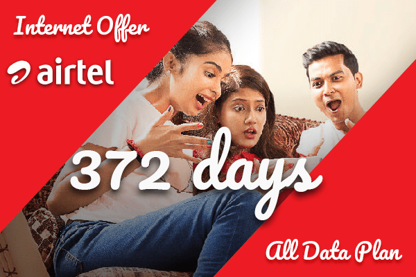 372 days 60GB Airtel Internet Package
