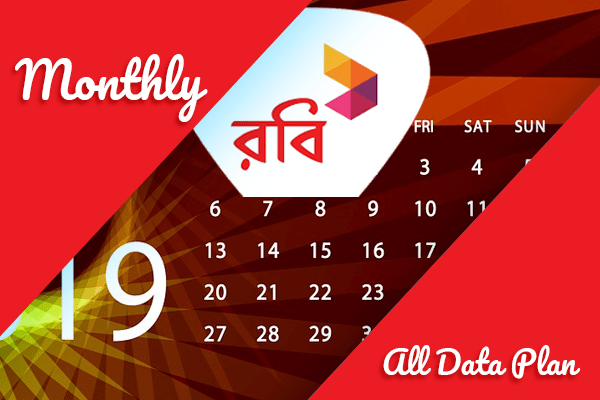 Robi Monthly Internet Plan