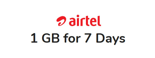 Airtel 1GB for 7Days Package
