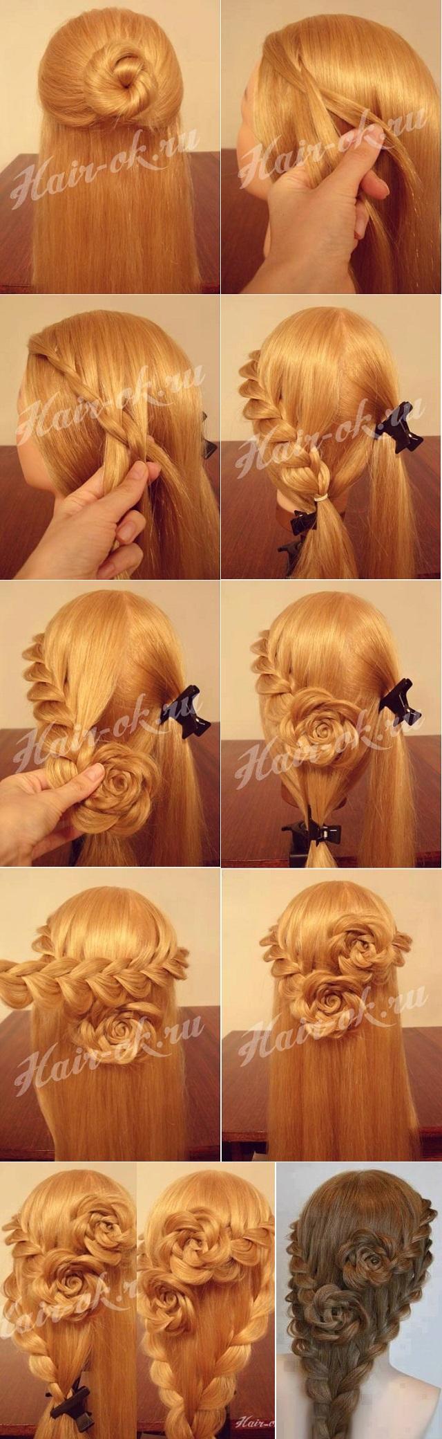 rose flower: rose flower hairstyle