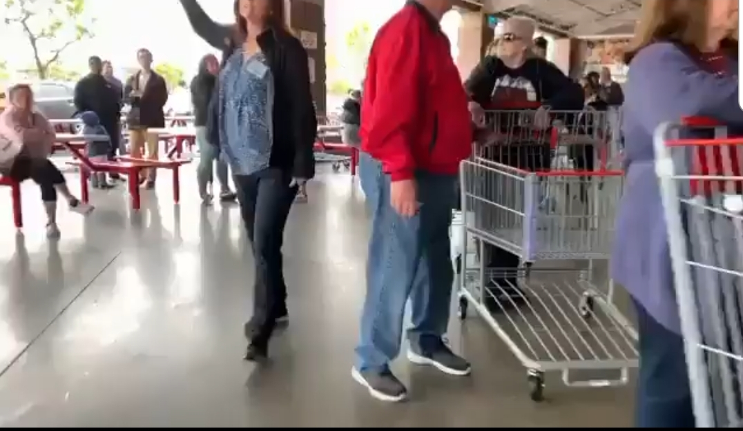 THE LINE AT COSTCO IS WRAPPED AROUND THE 'CRAZY'