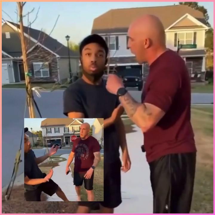 WHITE MAN ORDERS BLACK MAN TO LEAVE HIS NEIGHBORHOOD IN S. CAROLINA