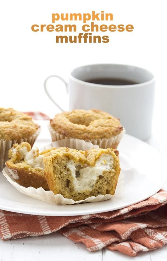 These are the best low carb pumpkin muffins, stuffed with cream cheese just like Starbucks!