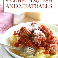 Slow Cooker Spaghetti Squash and Meatballs