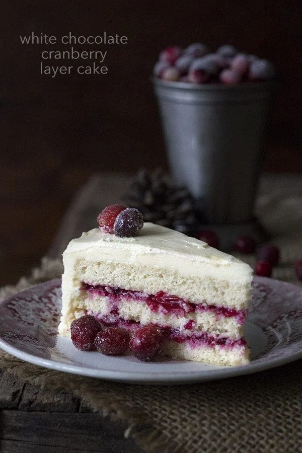 Keto Cranberry White Chocolate Layer Cake
