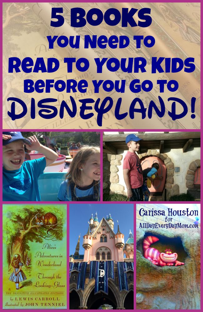 5 books you need to read to your kids before you go to Disneyland! Great books for kids!