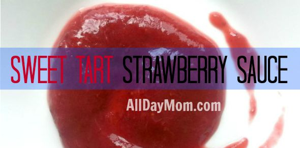 Easy Sweet Tart Strawberry Sauce recipe --- Sugar Free - Paleo - Whole30 - get the recipe at AllDayMom.com!