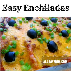 Organic Easy Enchiladas Recipe and Homemade Organic Enchilada Sauce Recipe