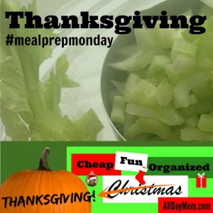 Thanksgiving Meal Prep Monday: Cheap Fun Organized Christmas Day 4