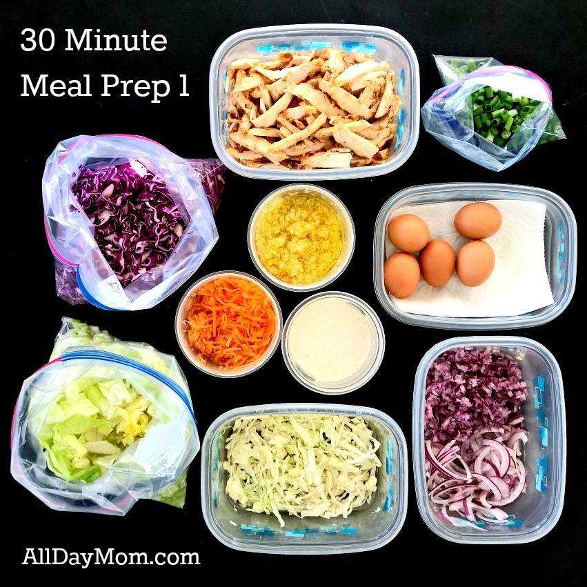 30 Minute Meal Prep 1: Grilled Chicken Salad
