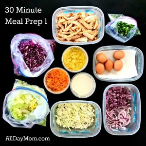 30 minute meal prep 1—chop once, eat 5 times! Get out of the kitchen and get on with your life!