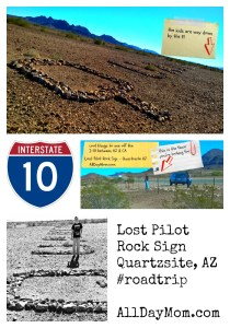 Lost Pilot Rock Sign Quartzsite, AZ - Roadside attractions off the I-10 between AZ and CA #roadtrip