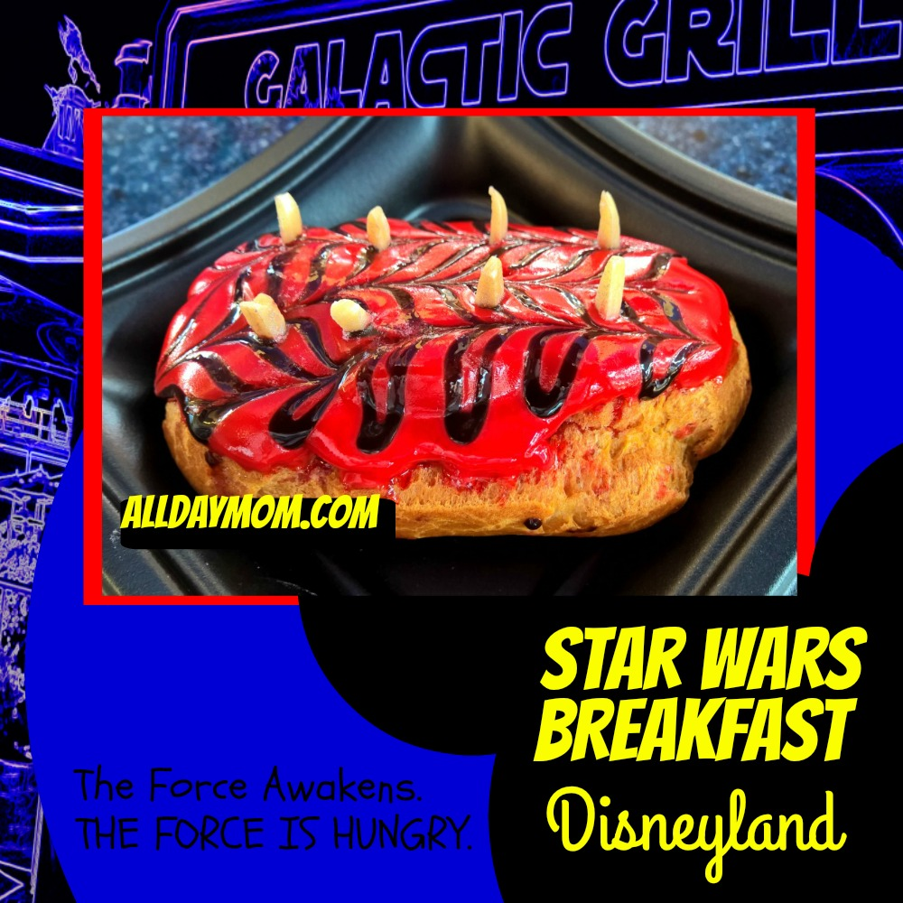 Star Wars Awakens at Disneyland - Star Wars Breakfast at Disneyland! #SeasonOfTheForce The Pastry Menace - Darth Maul Donut