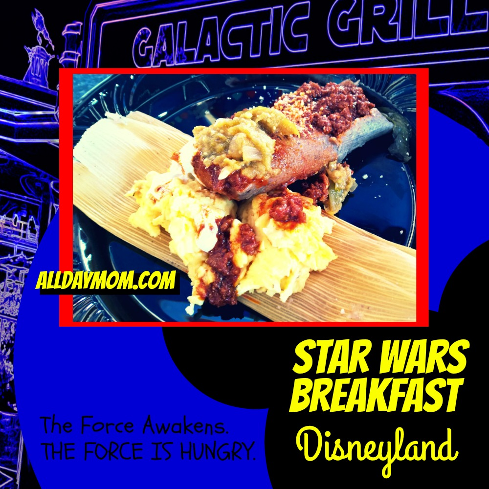 Star Wars Awakens at Disneyland - Star Wars Breakfast at Disneyland! #SeasonOfTheForce Darth Tamale - Gluten Free at Disneyland!