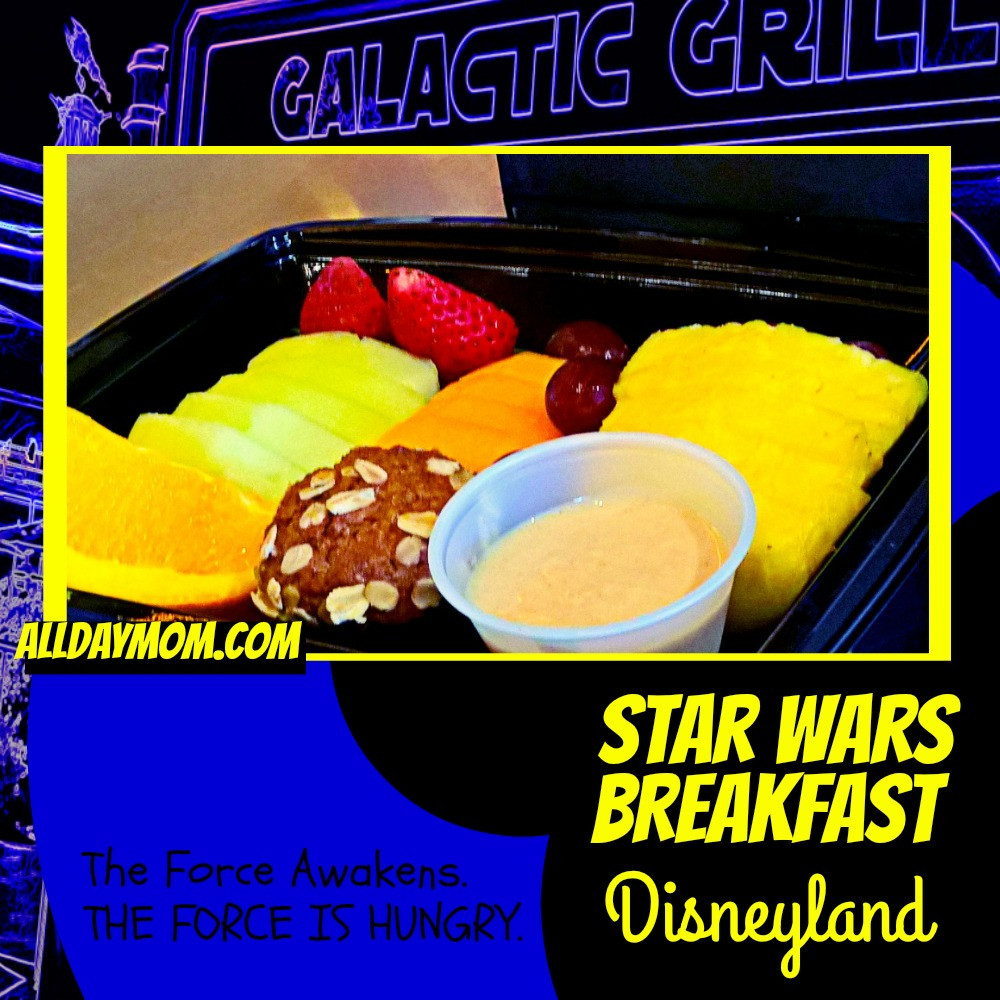 Star Wars Awakens at Disneyland - Star Wars Breakfast at Disneyland! #SeasonOfTheForce Moisture Farm Fresh Fruit Platter - Gluten Free at Disneyland!