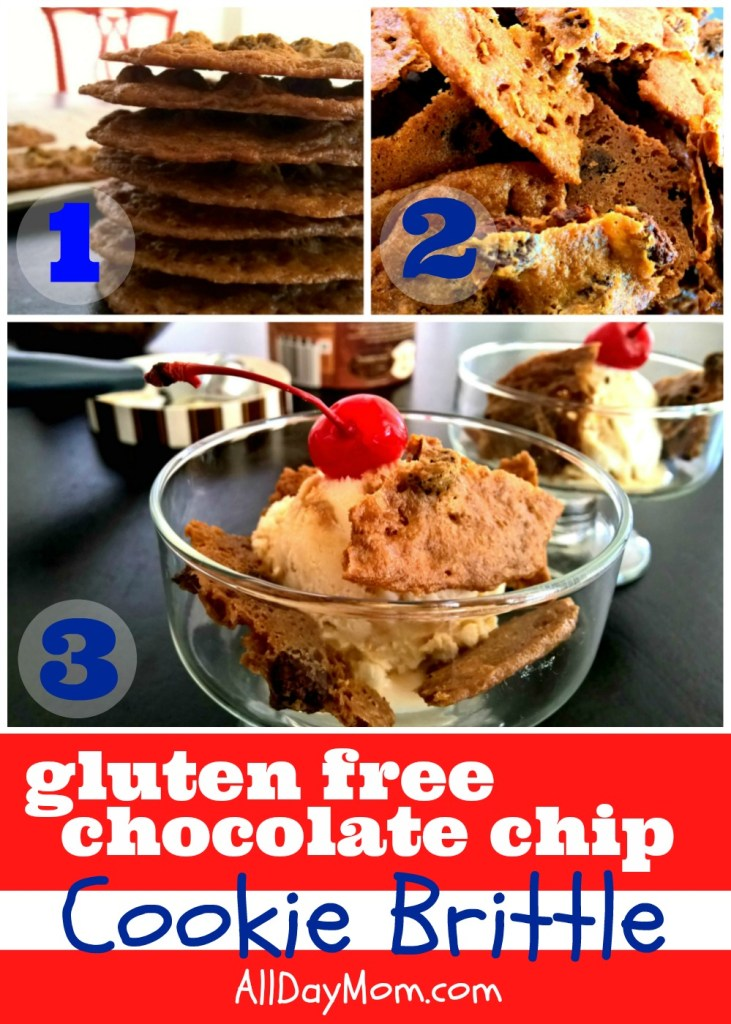 Easy gluten free chocolate chip cookie recipe at All Day Mom! Easy gluten free dessert recipe
