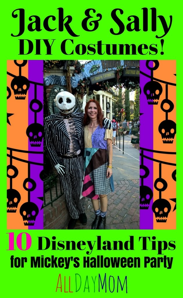 DIY Sally Costume Nightmare Before Christmas – 10 Disneyland Tips for Mickey's Halloween Party