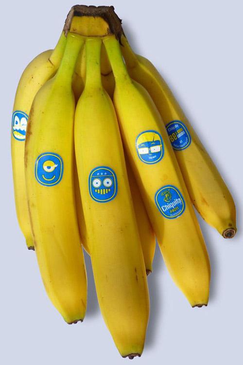 Новые стикеры для «Chiquita». Каждому банану – свое лицо