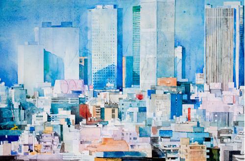 Города из акварели. Воздушное настроение от Christopher St. Leger