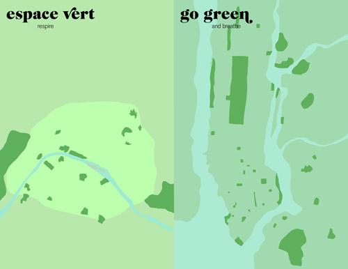 Париж vs Нью-Йорк. Графическая серия о контрастах двух мегаполисов