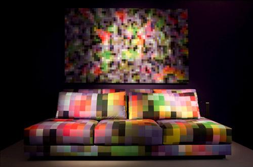Пиксельная мебель от Cristian Zuzunaga. Идеи по оцифровке интерьера