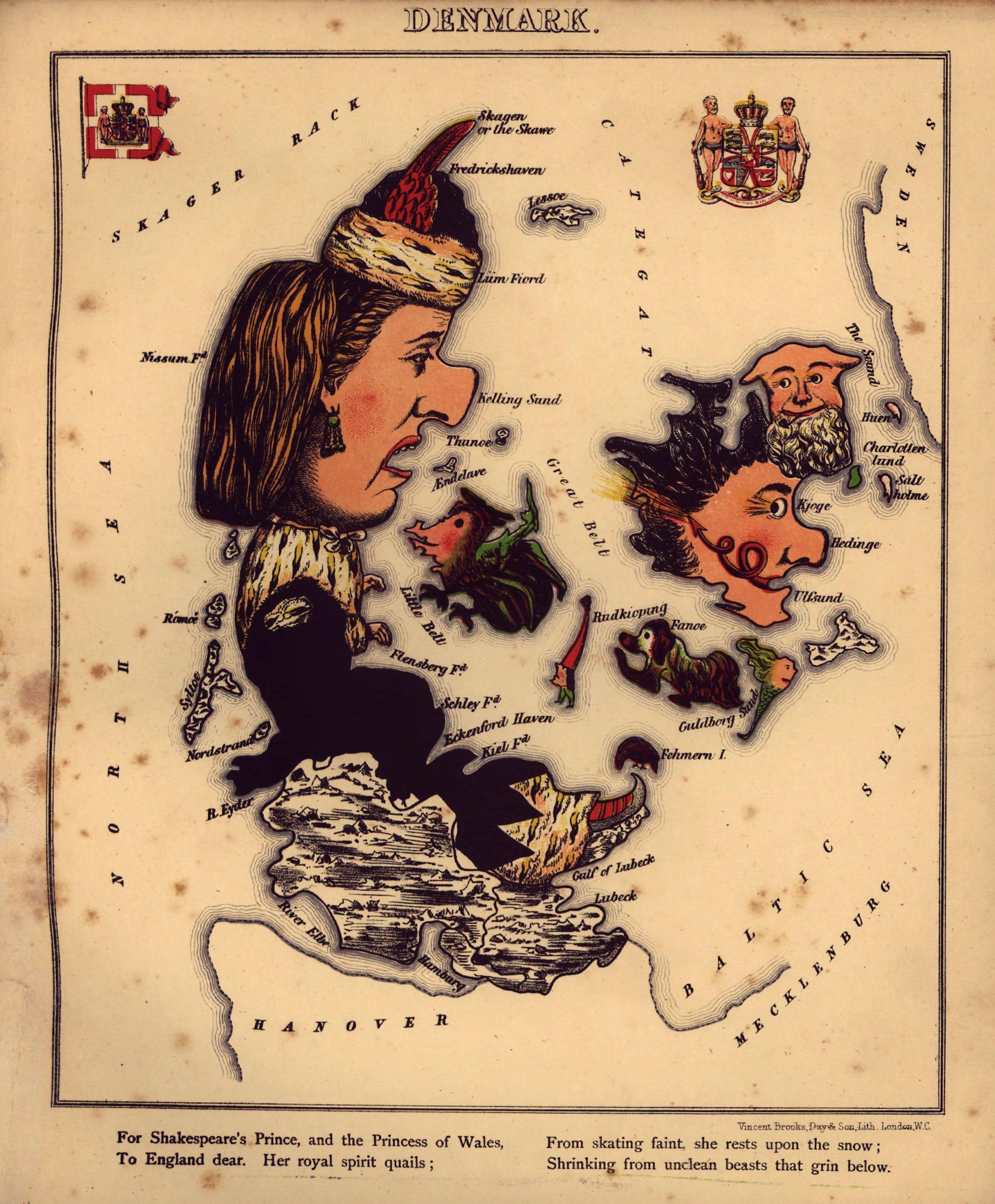 Геокатуры - портреты старушки Европы из старого атласа
