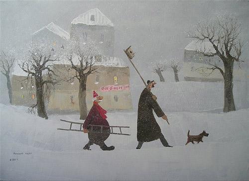 Колбаскин и другие. Добрые картины Андрея Репникова