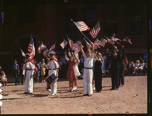 Американское общество 1939 - 1943 годов. Архив редких цветных фото из Библиотеки Конгресса США