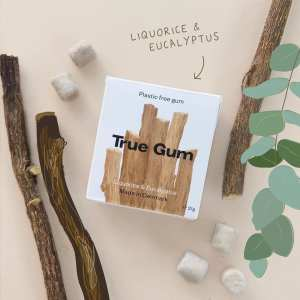 Plastic free chewing gum by True Gum