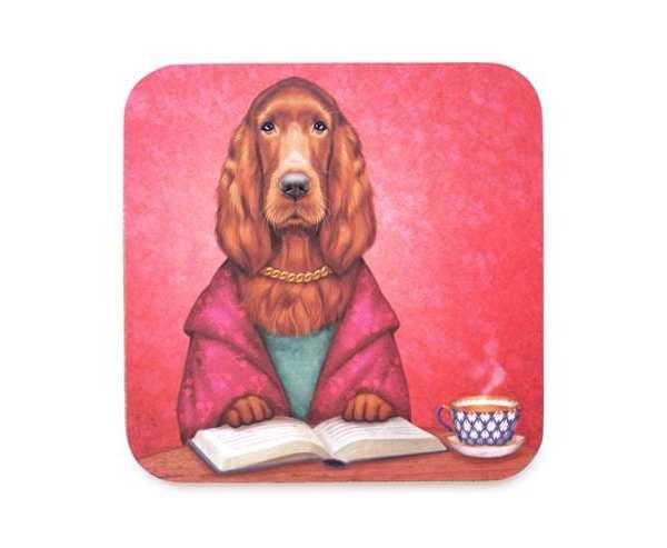 Lucky Laika proverb coaster