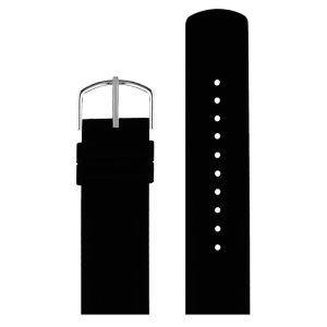 Black silicone replacement PICTO watch strap